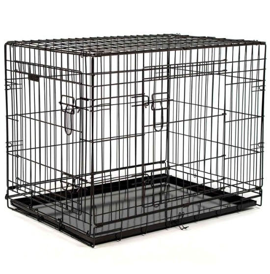 Ellie-Bo dog crate from the standard range with two doors in black