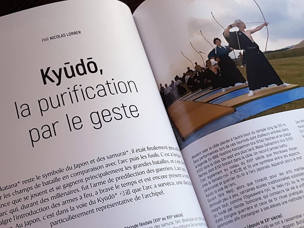 Kyudo dans Yashima magazine #8 juillet 2020