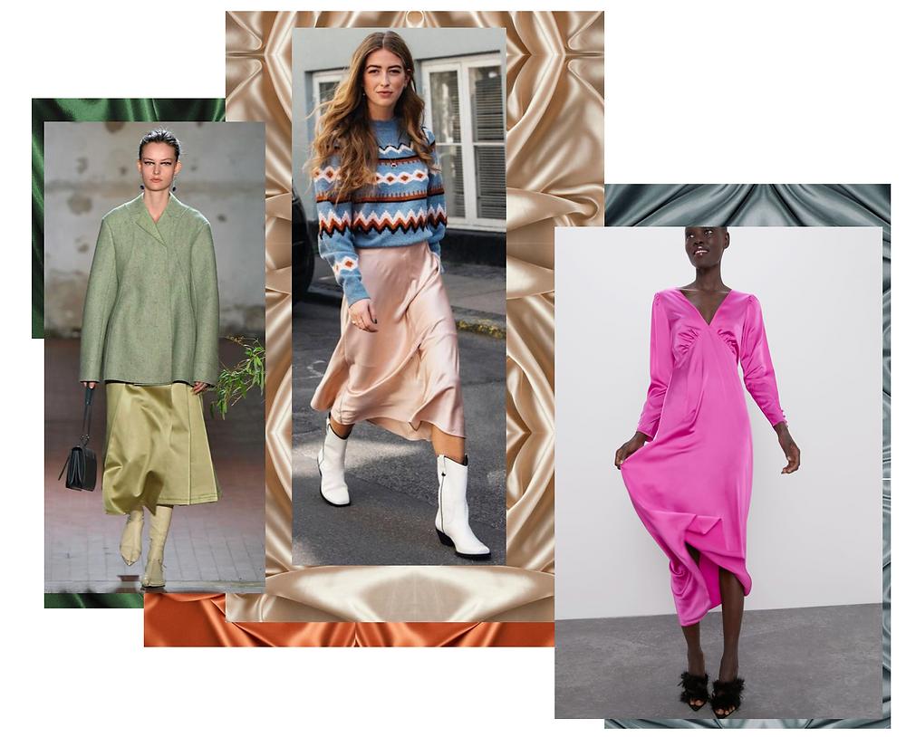Satin fashion trend