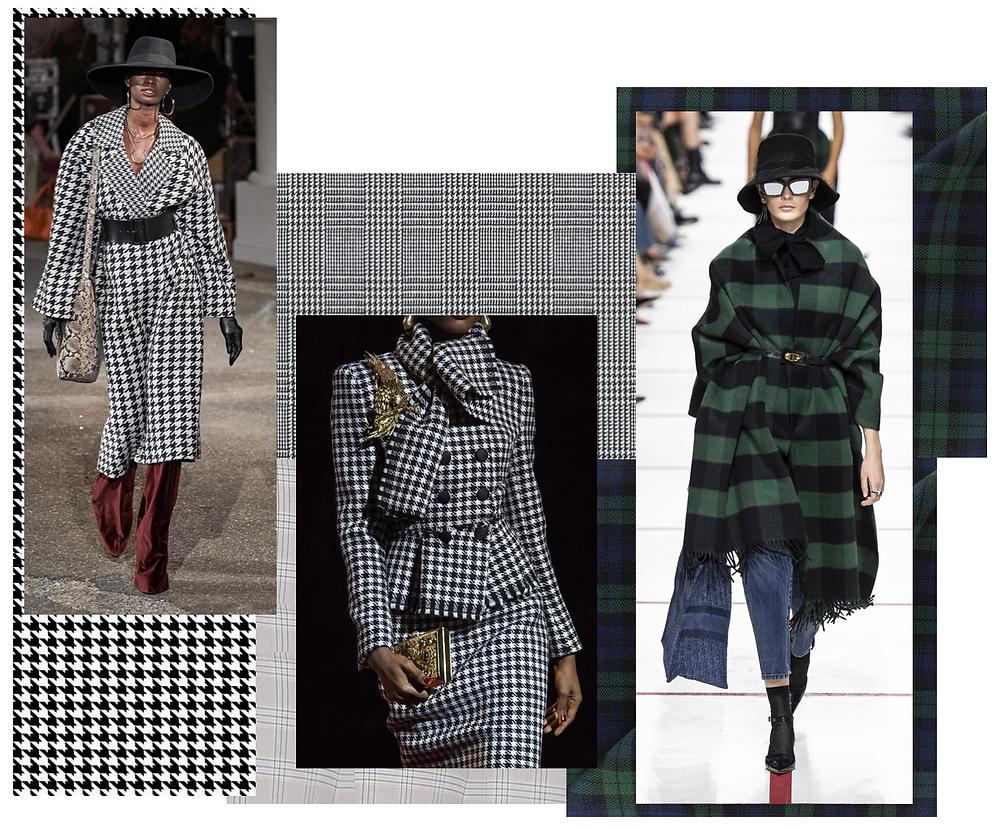 Plaid print fashion trend