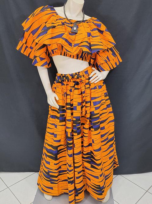 2pc African Print Skirt Set