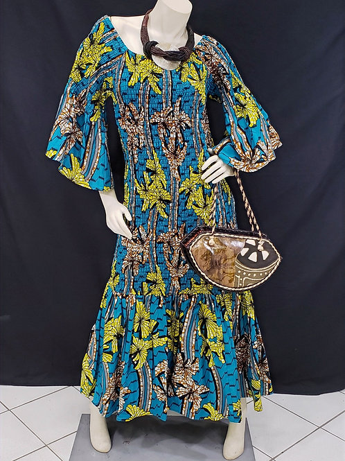African Print Mermaid Dress