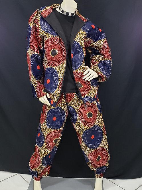 African Print Jogging Suit - Lrg/XL