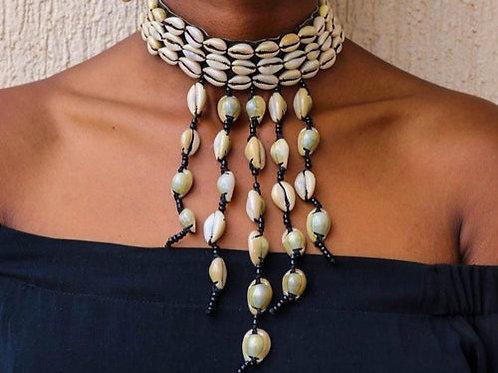 African Cowry Shell Choker