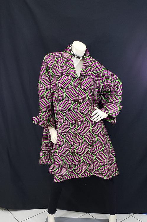 African Print Swing Tunic Top
