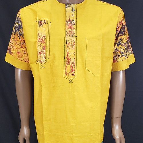 XL Men's African Print Shirt