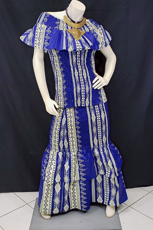 2 piece African Print Smock Skirt Set