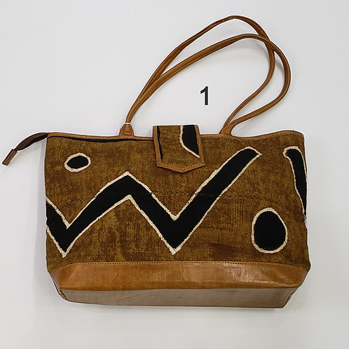 Mudcloth and Leather Handbags