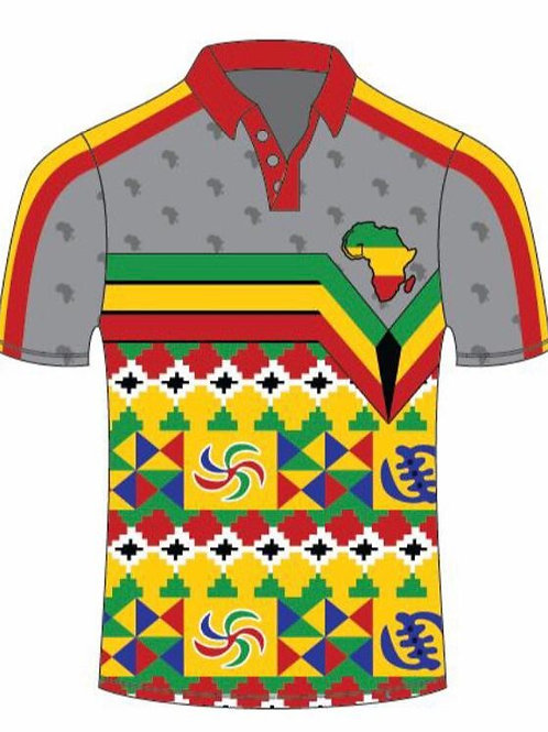 African Print Polo (Short Sleeve)