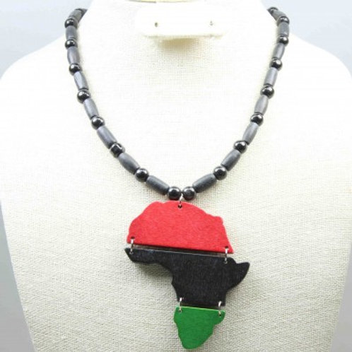 Map of African Beaded Necklace