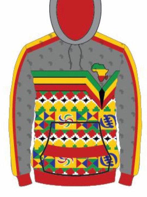 African  Print Hoodie