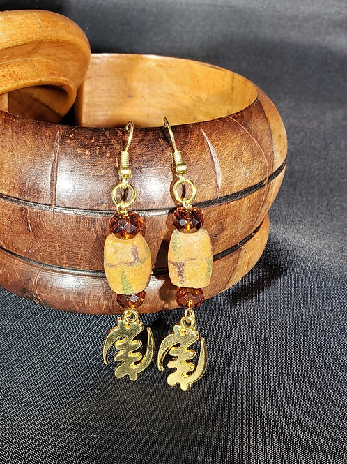 Gye Nyame Adinkra Earrings