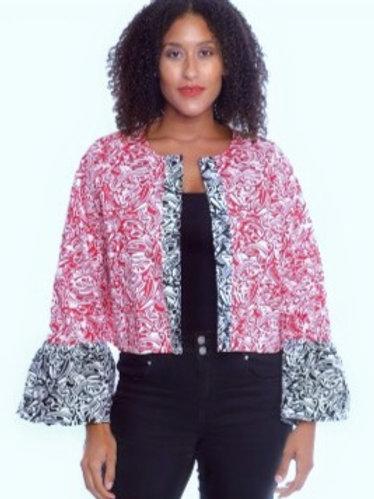 African Ruffle Sleeve Jacket