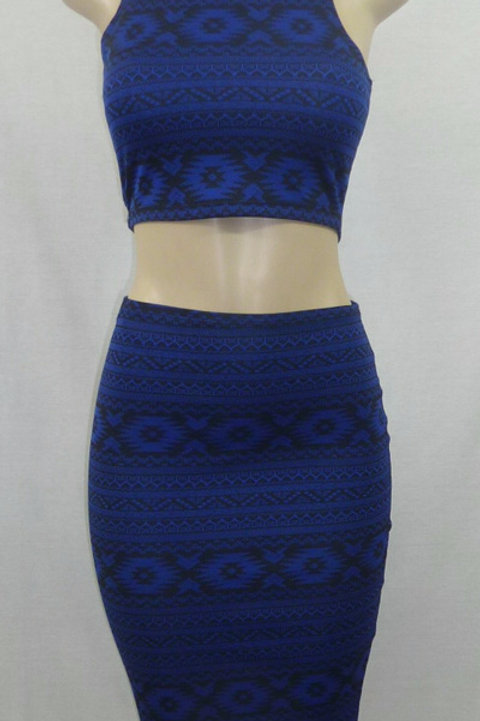Skirt Set w/Crop Top