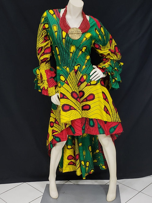 High-Low African Print Dress