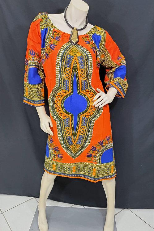 Dashiki Print Dress