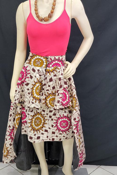 African Print 2 pc Skirt Set