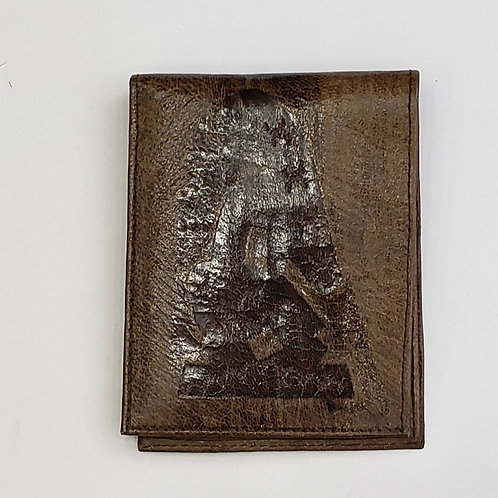 African Brown Leather Wallet