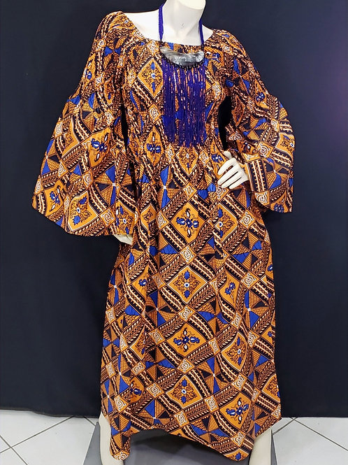 African Print Smock Dress