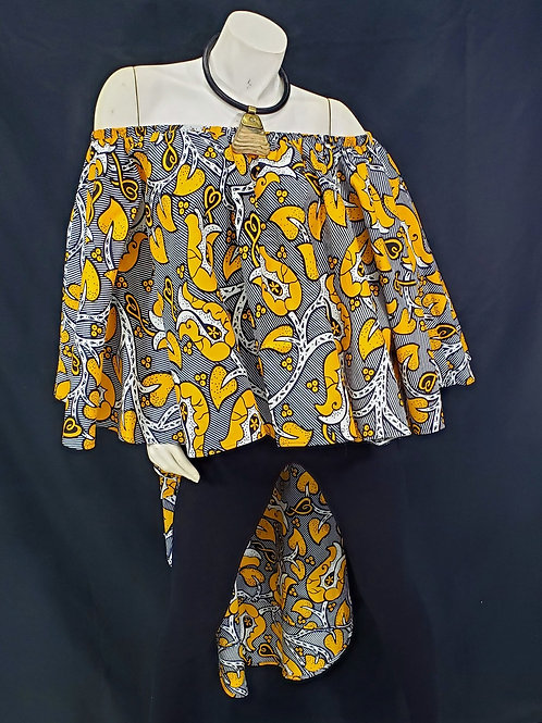 African Print High-Low Top