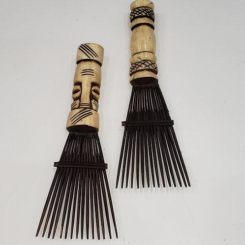 Bone African Hair  Comb/Pick