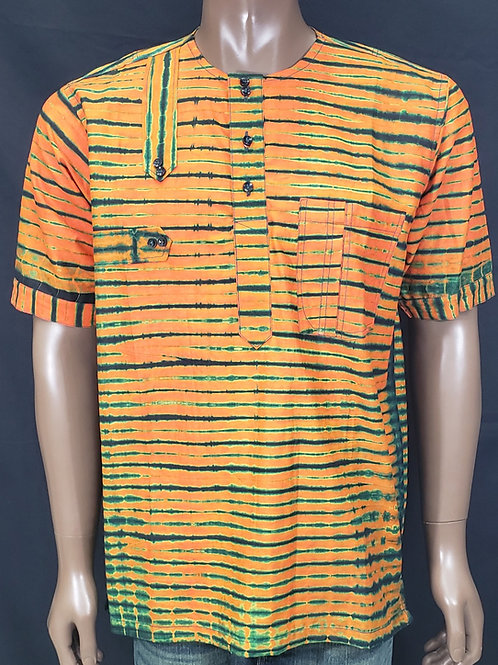 Large Men's African Print Shirt