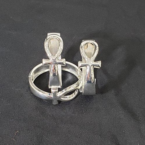 Silver Ankh Bracelet