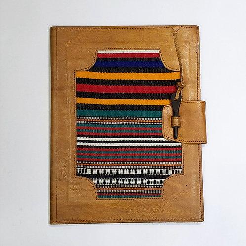 Mudcloth/Leather Portfolio Case