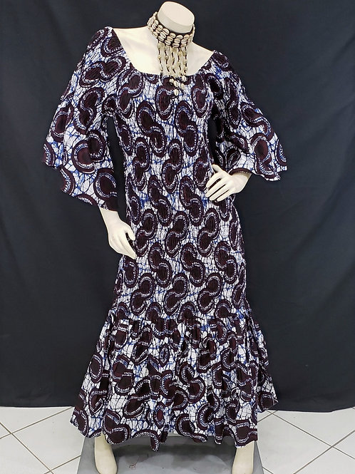 African Print Mermaid Dress