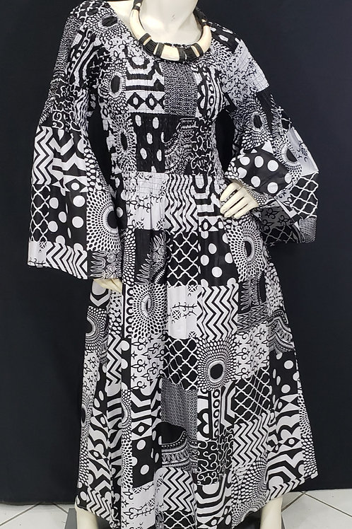 African Print Smock Dress