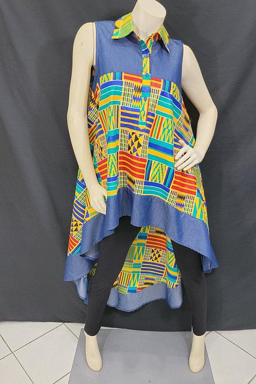 African Print Hi/Lo Top