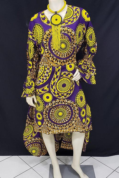 African Print Hi/Low Dress