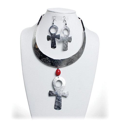 Ankh Necklace Set
