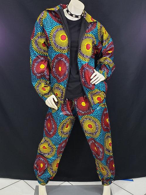 African Print Jogging Suit - Med/Lrg