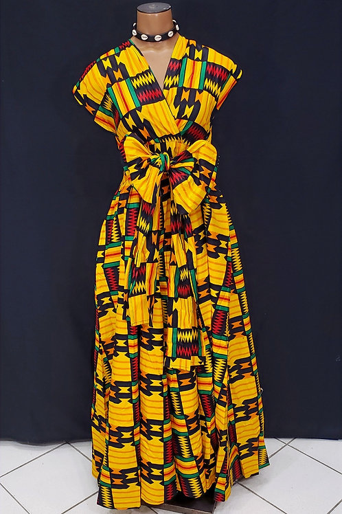 African Print Infinity Dress