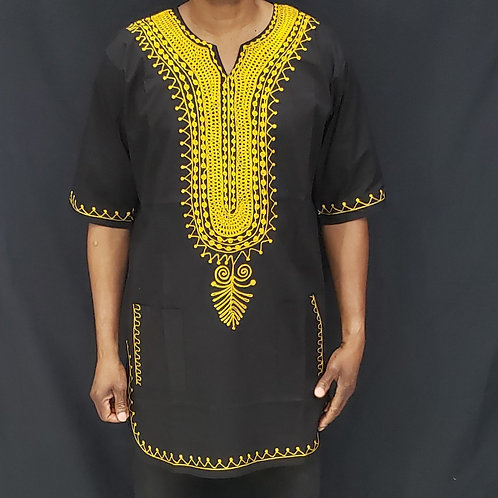 Dashiki with Gold Embroidery