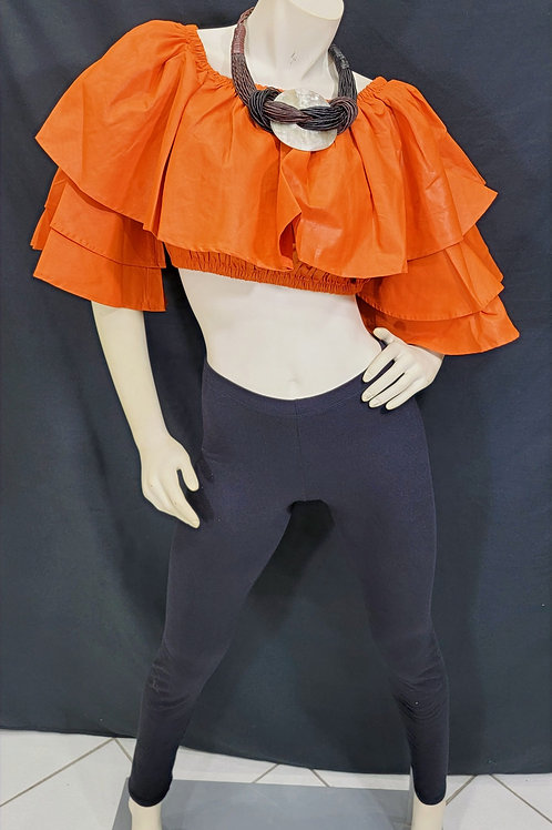 African Style Crop Top