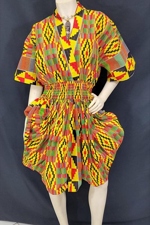 African Print Bubble Dress