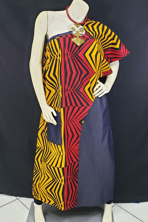 African Print Duster