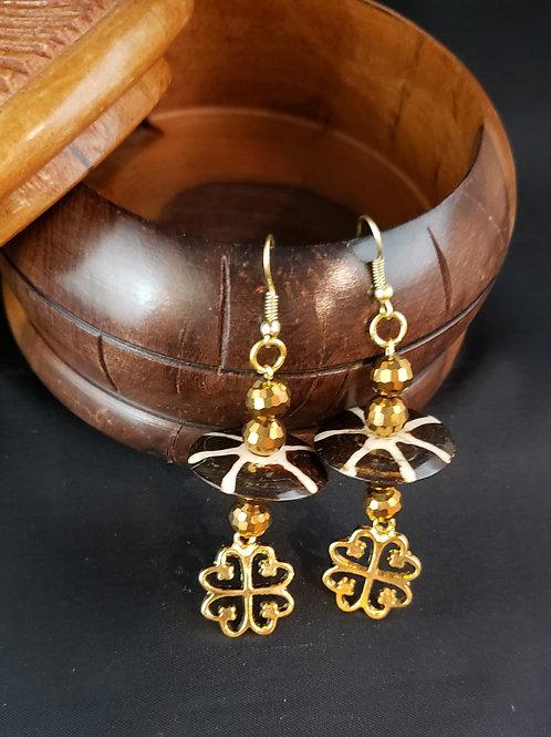 Nyame Dua Adinkra Earrings