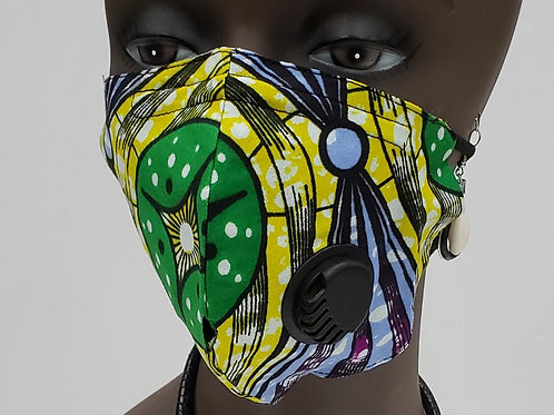 African Print Face Mask w/Filter