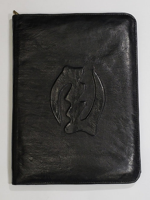 Gye Nyame Leather Portfolio Case