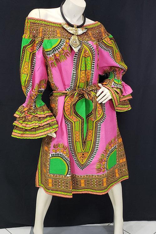 African Dashiki Print Dress