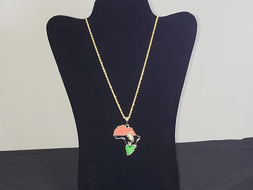 Cultural Map of Africa Necklace
