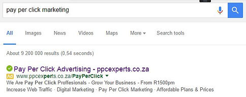 Pay Per Click Search Engine Ads