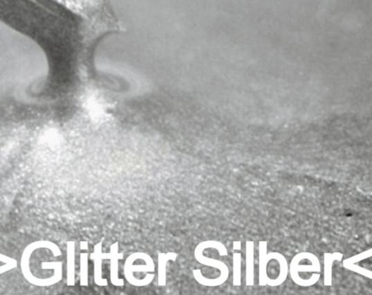 Glitter Silber S Design