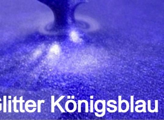 Glitter Königsblau S Design