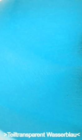 Teiltransparent Wasserblau