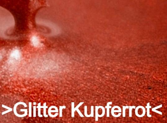 Glitter Kupferrot S Design