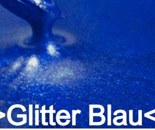 Glitter Blau S Design